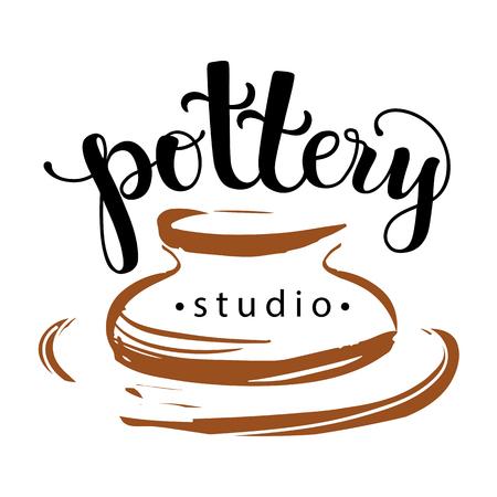 Logo del estudio de la cerámica Foto de archivo - 75687056