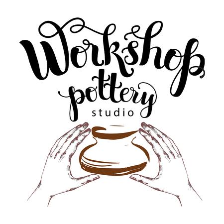 Workshop pottery studio logo