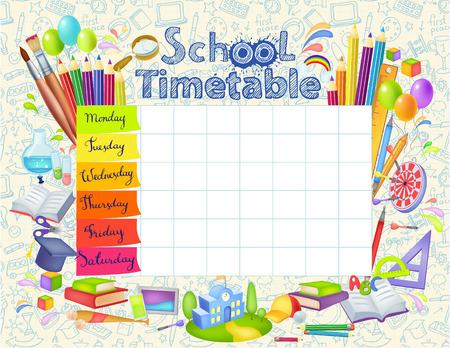 Sjabloon schoolrooster Stockfoto - 83874193