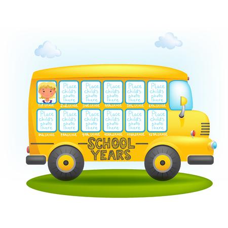 mirror: School bus frame