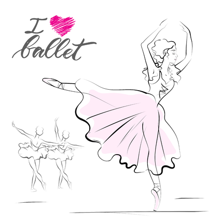 A drawing of young ballerina.