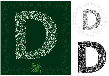 Leaves alphabet, Letter D