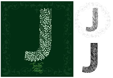 Leaves alphabet, Letter J Imagens - 97122346