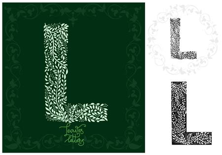 Leaves alphabet, Letter L