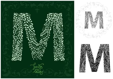 Leaves alphabet, Letter M Imagens - 97122343