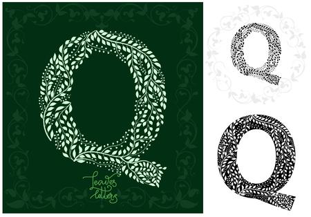 Leaves alphabet, Letter Q Imagens - 97122349