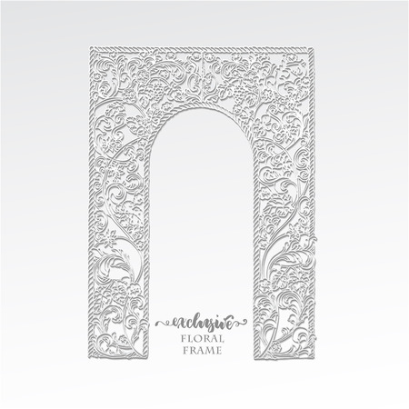 Exclusive floral frame