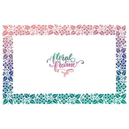 Exclusive floral frame Imagens - 105911688