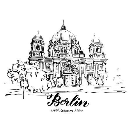 Hand drawn sketch of Berlin Cathedral
