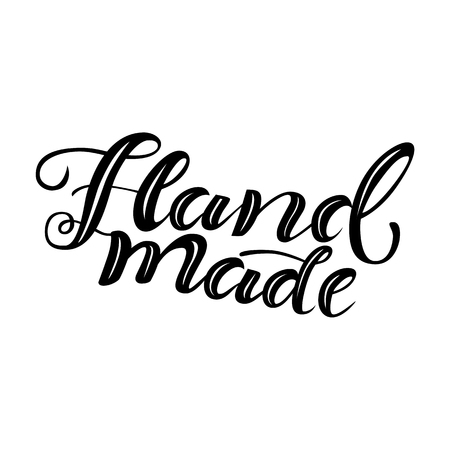 Hand drawn lettering Hand made