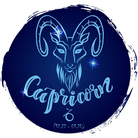 Round zodiac sign Capricorn