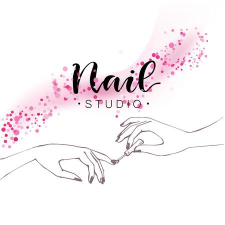 Beautiful manicure illustration Imagens - 111592055
