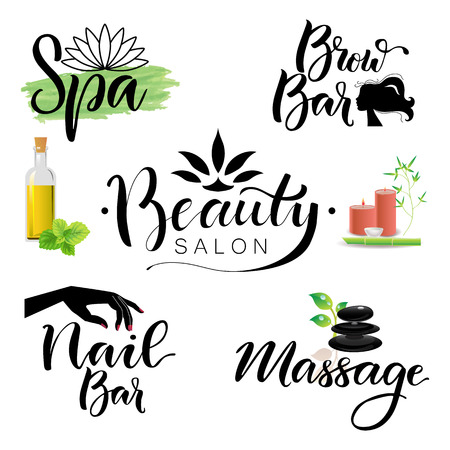 Letterings spa and beauty theme 版權商用圖片