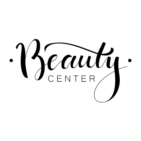 Beautiful hand drawn inscription for Beauty salon, brochure or logo. Used modern hand drawn lettering
