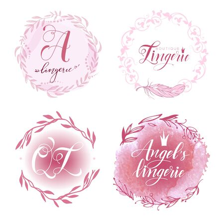 set of lingerie logo 向量圖像