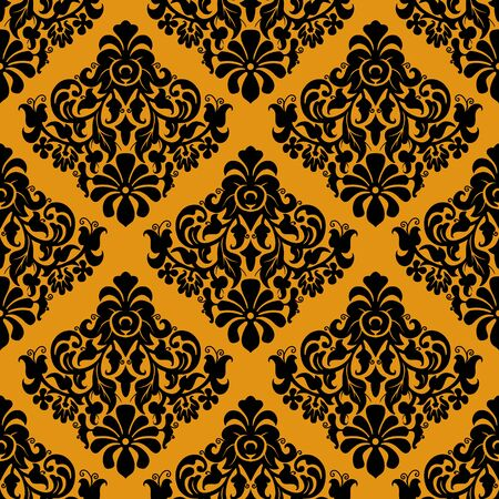 Luxury decorative seamless pattern on golden background 向量圖像