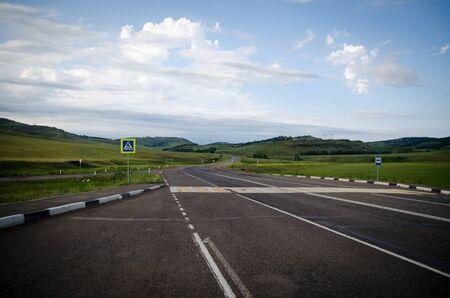 ロシアの小さな道路 写真素材