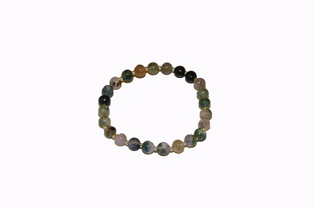 indian onyx agate natural stone green bracelet beads