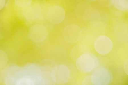 Yellow bokeh defocused, background and texture from nature Banco de Imagens