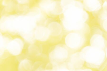 Yellow bokeh background, abstract texture