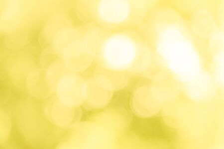 Yellow bokeh texture background from natural