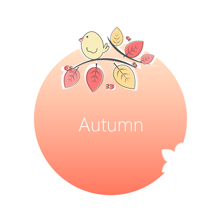 Autumn circle card