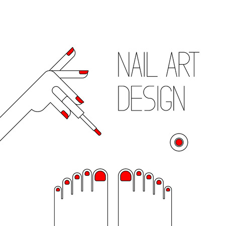 Nail art design. illustratie vector
