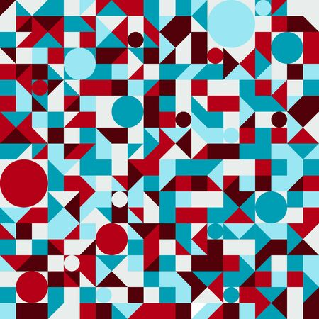 Seamless vector geometric pattern. Colorful abstract mosaic backgrounds. Illustration