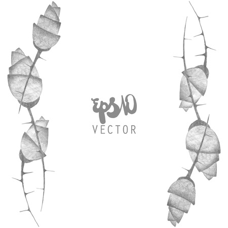 grayscale: Vector illustration - hand drawn grayscale roses