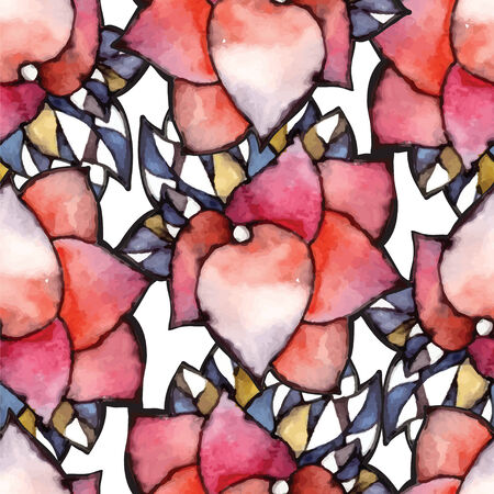 Abstract watercolor illustration of flowers in vector format - seamless pattern Vector