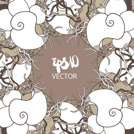 Abstracte illustratie van fantastische bloemen in vector-formaat - decoratieve kaart of uitnodiging leeg