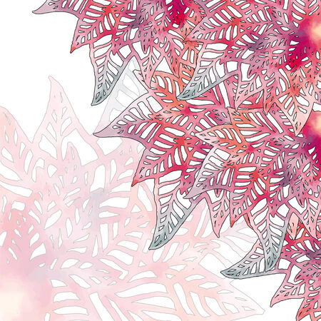 watercolor illustration of snowflake in vector format