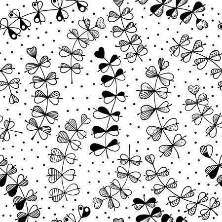 herbals: Graphic illustration of herbals - vector seamless pattern Illustration