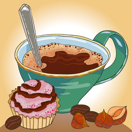 kafe: Sweet desert food