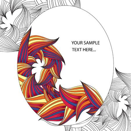 herbal background: Herbal floral illustration - graphic background for page. Vector format. Illustration