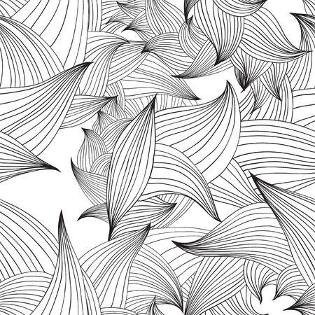 Vector seamless pattern de pétales graphiques verts Banque d'images - 39308555