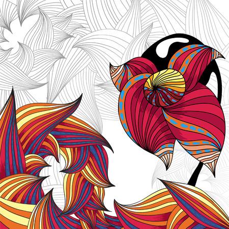 Herbal floral illustration - fond graphique pour la page. Vector format. Banque d'images - 39308569