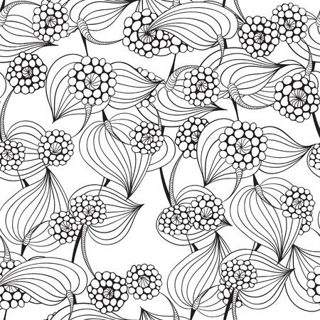 Bloemen achtergrond - vector naadloos patroon