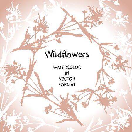Silhouette. Decorative card design. Vector format.