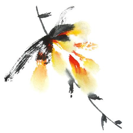dessin fleur: Branche de la fleur