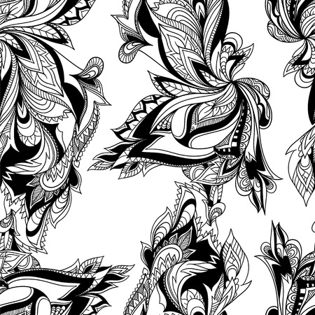 wedding flower: Paisley seamless pattern. Vector format. Illustration