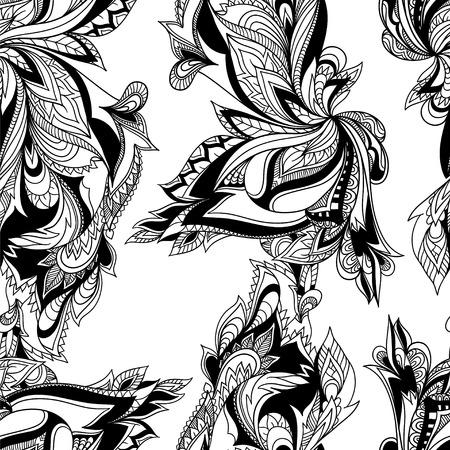 Paisley seamless pattern. Vector format. Illustration
