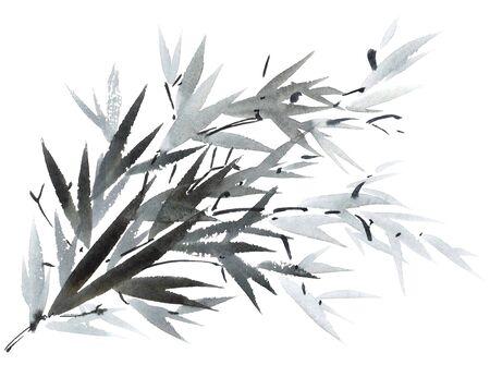 gohua: Watercolor tree branch