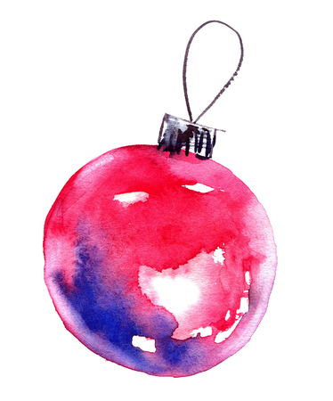 Watercolor christmas balls