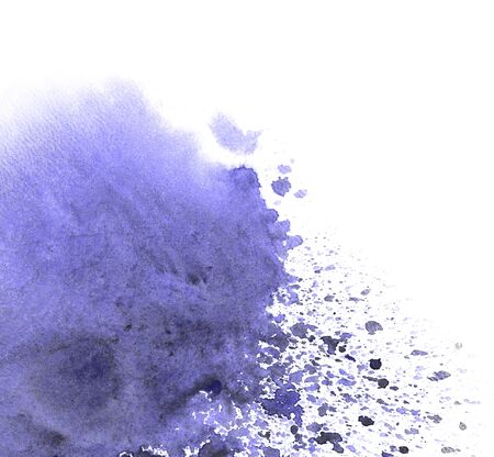 Abstract watercolor background texture. Watersplash with blue paint.