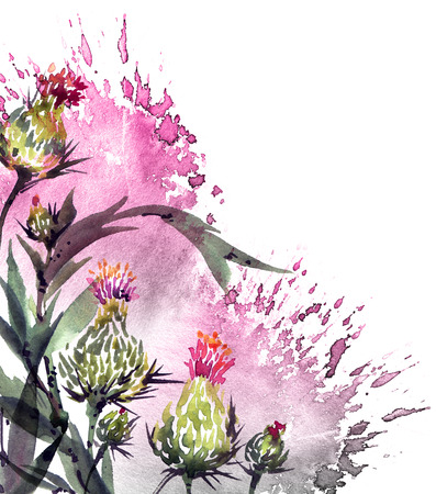 Watercolor floral illustration Stock Illustration - 106270227