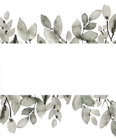 Watercolor tree leaves Banco de Imagens