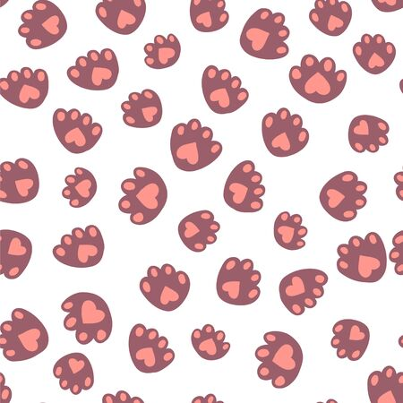 Cute illustration of cat footprints Illustration