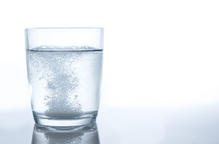 efffervescent bubbles from a tablet in water