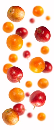 Apples and oranges shot to enhance depth of view using blur Stock fotó